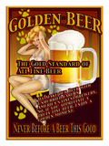 Golden Beer Giclee Print by Nomi Saki