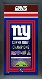 New York Giants Framed Championship Banner Framed Memorabilia