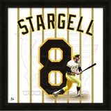 Willie Stargell, Pirates representation of the player's jersey Framed Memorabilia