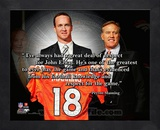 Peyton Manning ProQuote Framed Memorabilia