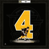 Bobby Orr, Bruins photographic representation of the player's jersey Framed Memorabilia