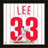 Cliff Lee, Phillies representation of the player&#39;s jersey Framed Memorabilia