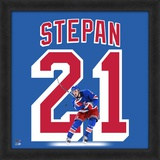 Derek Stepan, Rangers representation of the player's jersey Framed Memorabilia