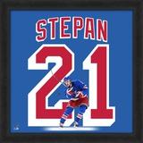 Derek Stepan, Rangers representation of the player's jersey Framed Memorabilia