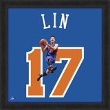 Jeremy Lin, Knicks  Representation of the player's jersey Framed Memorabilia