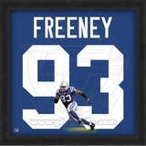 Dwight Freeney, Colts representation of the player's jersey Framed Memorabilia