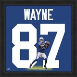 Reggie Wayne, Colts representation of the player's jersey Framed Memorabilia