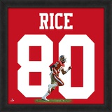Jerry Rice, 49ers photographic representation of the player's jersey Framed Memorabilia