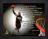 Lebron James ProQuote Framed Memorabilia