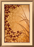 Golden Flourish II Prints by Edward Aparicio