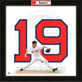 Josh Beckett, Red Sox representation of the player's jersey Framed Memorabilia