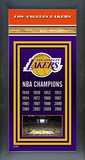 Los Angeles Lakers Framed Championship Banner Framed Memorabilia