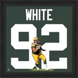 Reggie White, Packers photographic representation of the player&#39;s jersey Framed Memorabilia