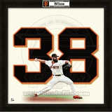 Brian Wilson, Giants representation of the player&#39;s jersey Framed Memorabilia