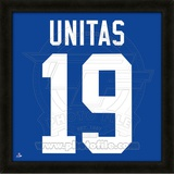 Johnny Unitas, Colts representation of the player's jersey Framed Memorabilia