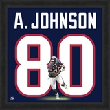 Andre Johnson, Texans representation of the player's jersey Framed Memorabilia