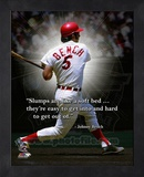 Johnny Bench, Cincinnati Reds, ProQuote Framed Memorabilia