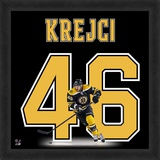 David Krejci, Bruins representation of the player's jersey Framed Memorabilia