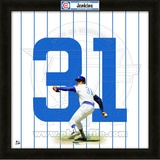 Ferguson Jenkins, Cubs representation of the player's jersey Framed Memorabilia