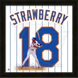 Darryl Strawberry, Mets representation of the player&#39;s jersey Framed Memorabilia