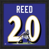 Ed Reed, Ravens representation of the player's jersey Framed Memorabilia