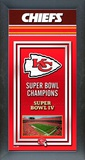 Kansas City Chiefs Framed Championship Banner Framed Memorabilia