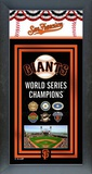 San Francisco Giants World Series Framed Championship Banner Framed Memorabilia