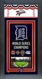 Detroit Tigers Framed Championship Banner Framed Memorabilia