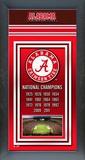 University of Alabama Crimson Tide Framed Championship Banner Framed Memorabilia