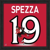 Jason Spezza, Senators representation of the player's jersey Framed Memorabilia