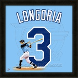 Evan Longoria, Rays representation of the player&#39;s jersey Framed Memorabilia