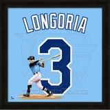 Evan Longoria, Rays representation of the player's jersey Framed Memorabilia