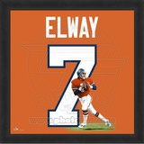 John Elway, Broncos photographic representation of the player's jersey Framed Memorabilia
