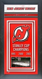 New Jersey Devils Framed Championship Banner Framed Memorabilia