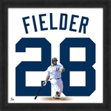 Prince Fielder Tigers representation of the player's jersey Framed Memorabilia