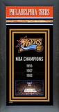 Philadelphia 76ers Framed Championship Banner Framed Memorabilia