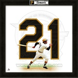 Roberto Clemente, Pirates representation of the player&#39;s jersey Framed Memorabilia