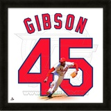 Bob Gibson, Cardinals representation of the player's jersey Framed Memorabilia