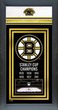 Boston Bruins Framed Championship Banner Framed Memorabilia