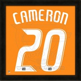 Geoff Cameron, Dynamo representation of the player&#39;s jersey Framed Memorabilia