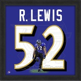 Ray Lewis, Ravens photographic representation of the player's jersey Framed Memorabilia