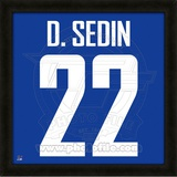 Daniel Sedin, Canucks photographic representation of the player's jersey Framed Memorabilia