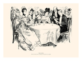 The Supper Art by Charles Dana Gibson
