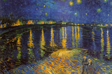 Starry Night Over the Rhone, c. 1888 ポスター : フィンセント・ファン・ゴッホ