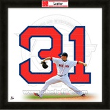 Jon Lester, Red Sox representation of the player's jersey Framed Memorabilia