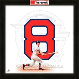 Carl Yastrzemski, Red Sox representation of the player's jersey Framed Memorabilia