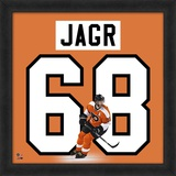 Jaromir Jagr, Flyers representation of the player's jersey Framed Memorabilia