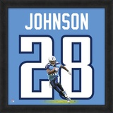 Chris Johnson, Titans representation of the player's jersey Framed Memorabilia
