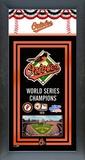 Baltimore Orioles Framed Team Championship Banner Framed Memorabilia