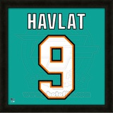 Martin Havlat, Sharks representation of the player's jersey Framed Memorabilia